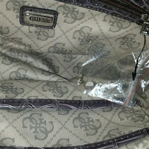 Guess Bags - Guess Croco Animal Print Patent Hobo Handbag